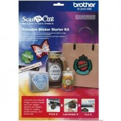 Brother Scan & Cut - Printable Stickers - Starter Kit (Inkjet Printer)