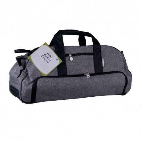 Silhouette Stylish tweed Rolling Tote